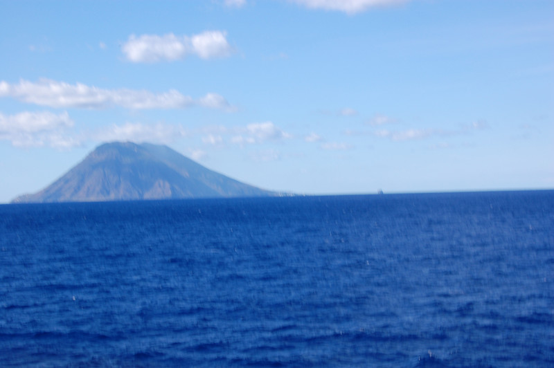 Stromboli volcano as we approach from the southwest.