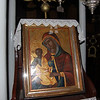 Icon of the Blessed Virgin inside the monastery church.