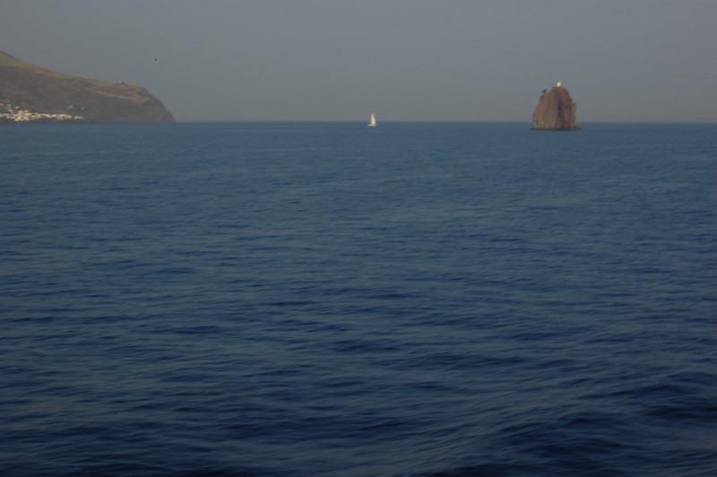#22 Day 2, 08/30/07.  Stromboli volcano as we continue to head south.