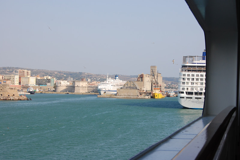 #5 Day 1, 8/29/07.  Partial view of another cruiseship docked near our ship the Westerdam of Holland America Lines.