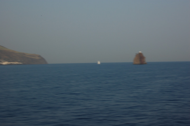#21 Day 2, 08/30/07.  Stromboli volcano viewed from southwest of the island.