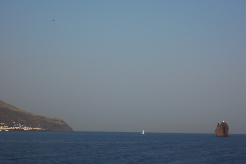 #23 Day 2,08/30/07.  Stromboli volcano from a point south of it.