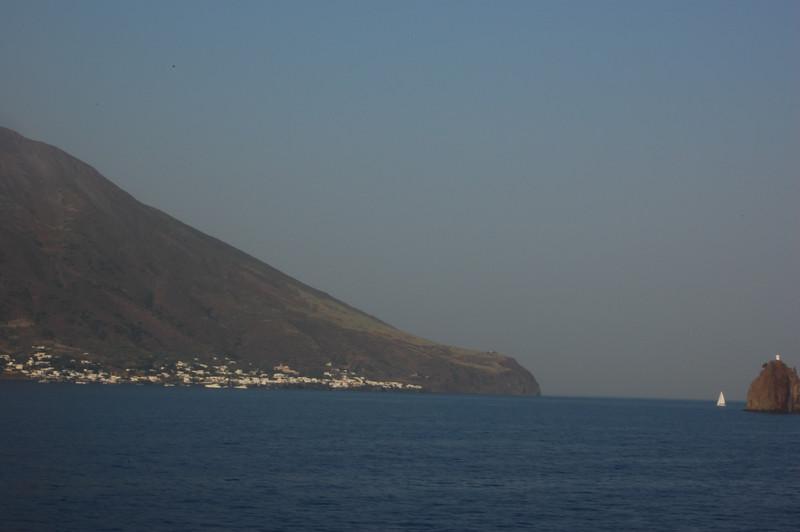 #19 Day 2, 08/30/07.  Stromboli Island towards the southwest coast.