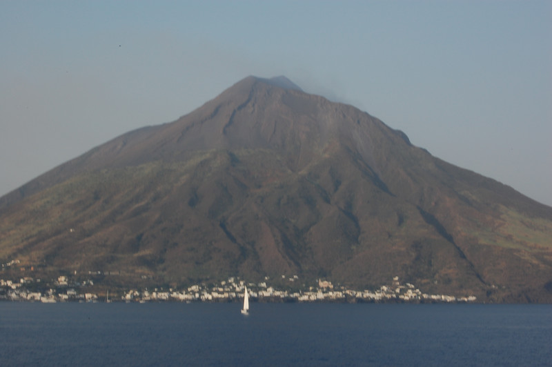 #10 Day 2, 08/30/07  View of Stromboli Island from the western side.
