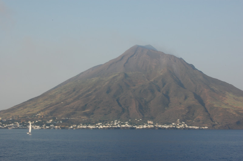 #8 Day 2, 08/30/07.  One of two communities on this island with an active volcano -- this one is on the western side of the island.  All in all about 960 people live on this island which also has ferry service to Napoli.