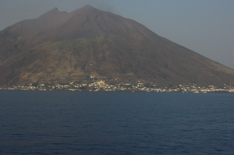 #20 Day 2, 08/30/07.  Stromboli volcano from west side of island.