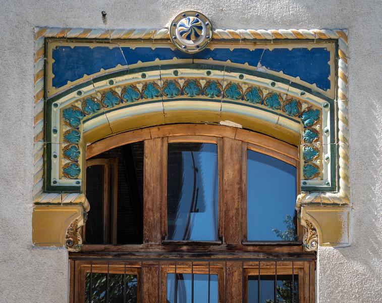 Detail of Late 19C Bucharest School Building