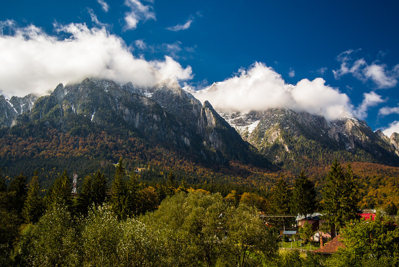 Busteni - view of Bucegi mountains