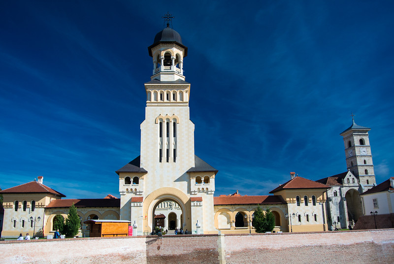 Alba Iulia citadel - entrance to Ortodox Cathedral