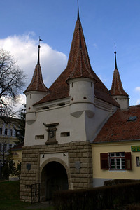 A gate in Brasov, Romania.