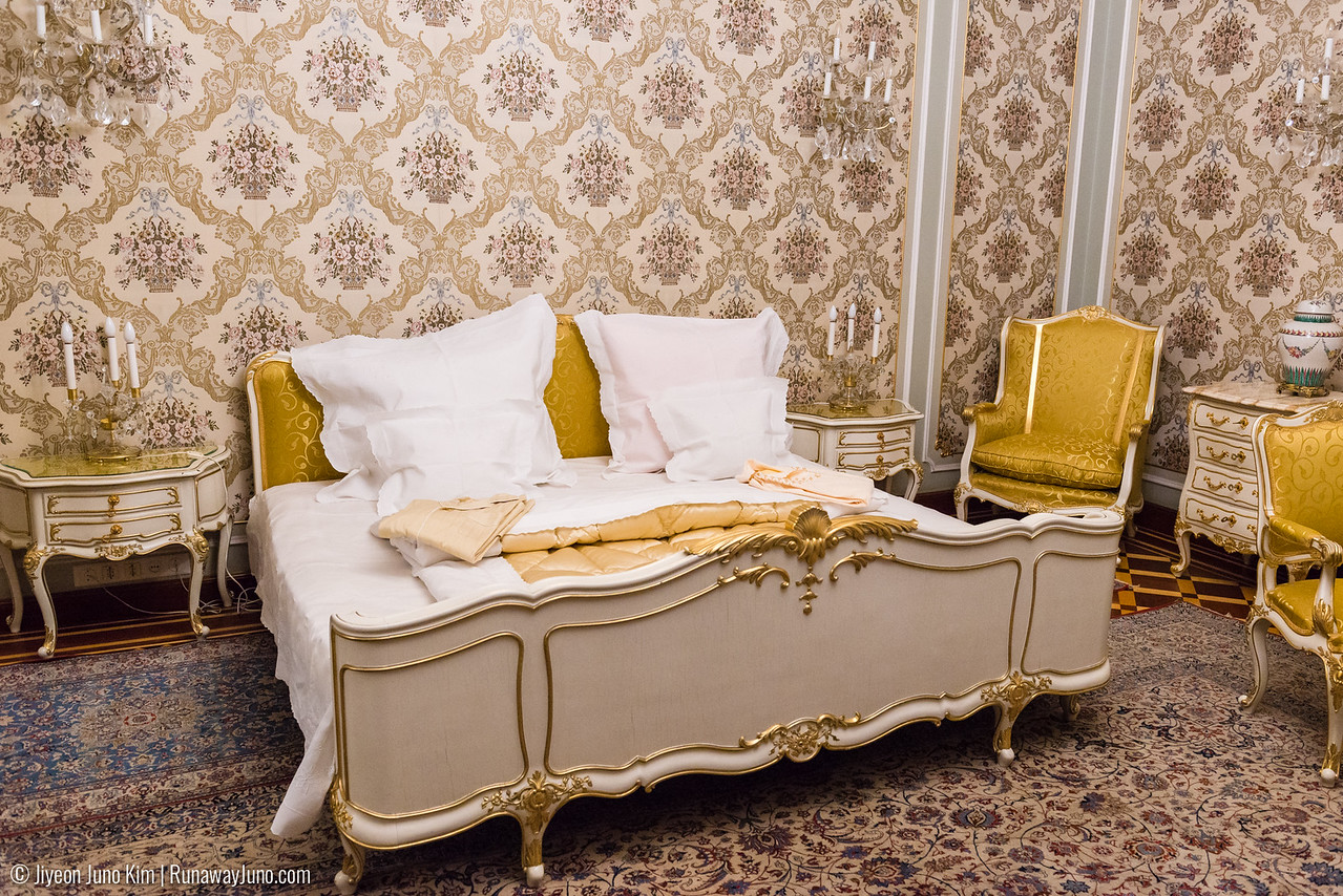 Nicolae and Elena Ceausescu's bedroom
