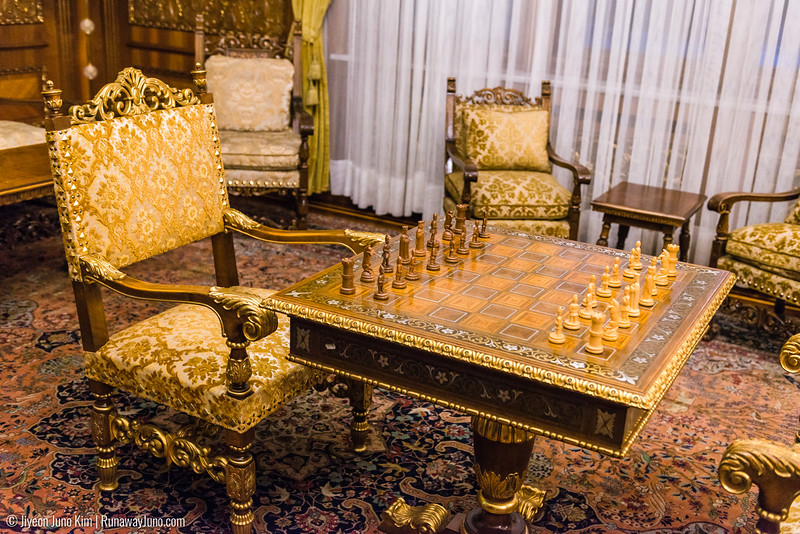 Hand-crafted chess set, featuring Romanian peasant