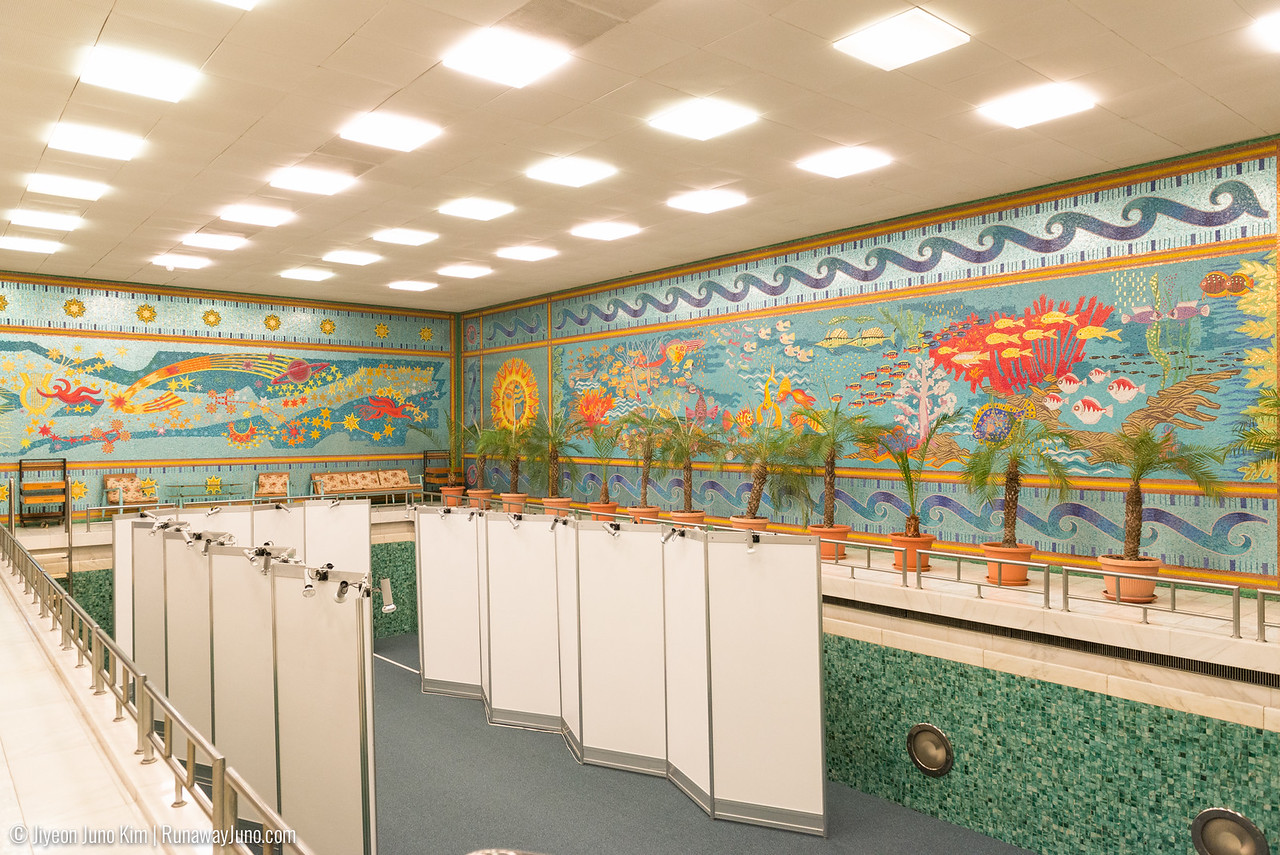 Swimming pool: featuring the image of entire universe mosaic made with 1 million tiles
