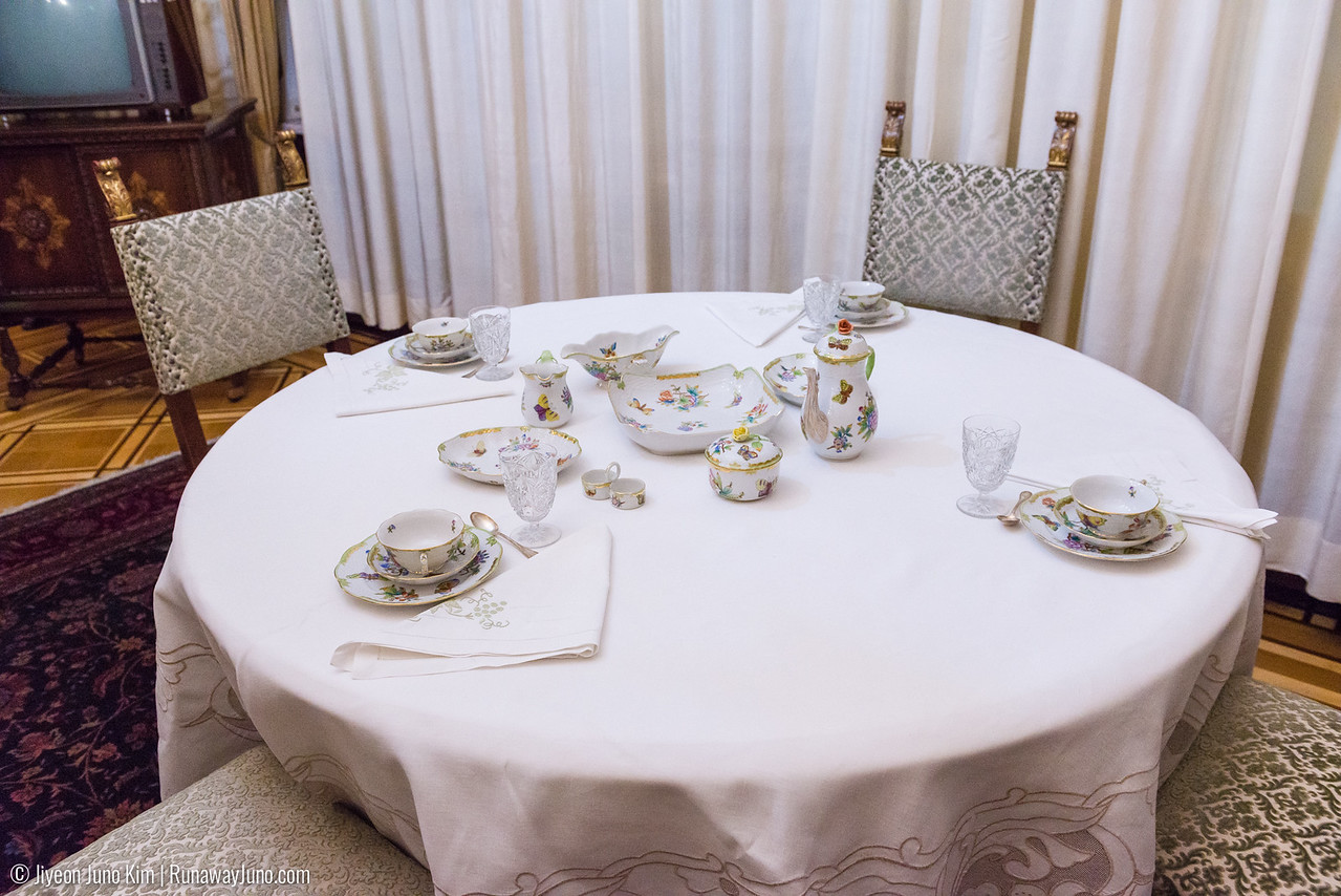 Casual dining table: they mostly dined here