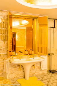 The famous gold bathroom of Nicolae and Elena Ceausescu's bedroom