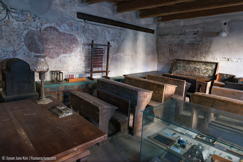 Fortified Church at Prejmer: a school room