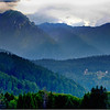 Predeal. View of Carpathian Mountains.