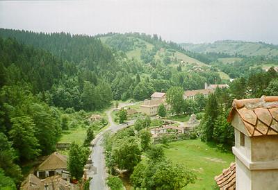 View from Bran Castle, Romania