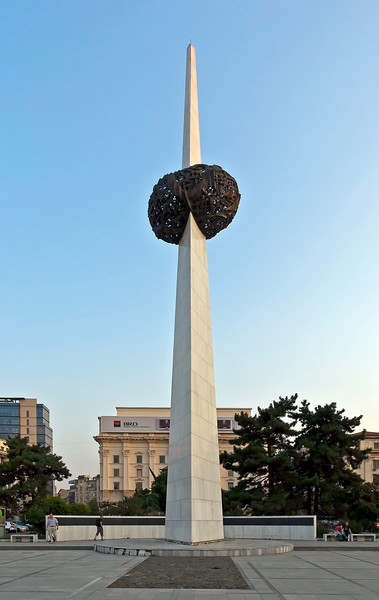 Memory monument in   today's Revolution Square.