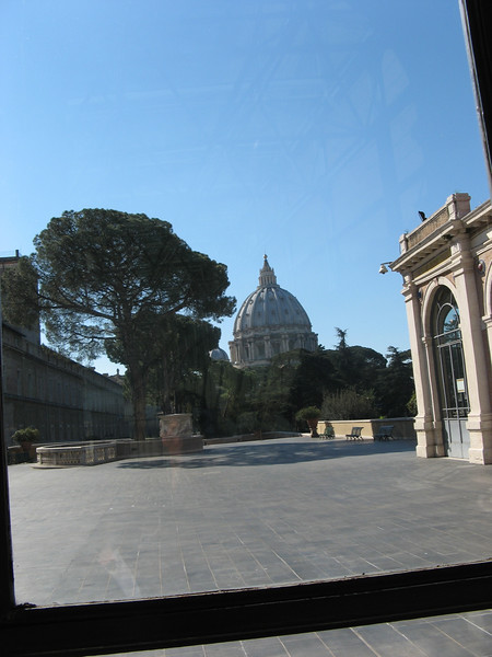 St. Peter's dome from within the Vatican