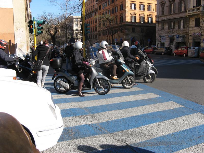 a normal commute - catch the pedestrian in it all.