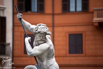 Navona Fountain's Neptune  Fontana del Nettuno by Giacomo della Porta