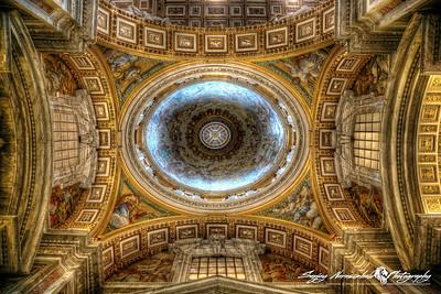St Peters Basilica - Chapel Dome, Vatican City, March 13, 2013