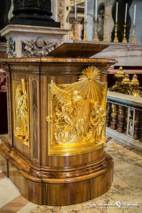 St Peters Basilica - Podium, Vatican City, March 13, 2013