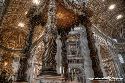 St Peters Basilica - The Papal Altar & Baldacchino, Vatican City, March 13, 2013