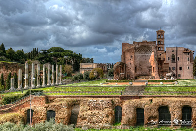 Temple of Venus at the Roman Forum, Rome, Italy, March 11, 2013