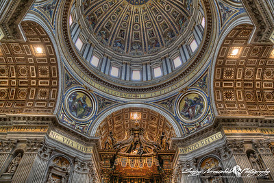 St Peters Basilica - Main Dome, Vatican City, March 13, 2013