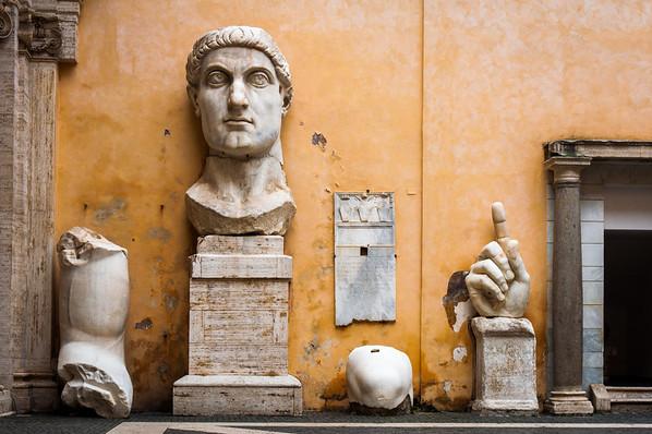 Emperor Constantine at the Capitoline Museum