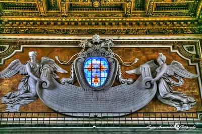 Basilica di Santa Maria in Ara coeli (Basilica of St. Mary of the Altar of Heaven) - Gothic Window, Rome, Italy, March 11, 2013