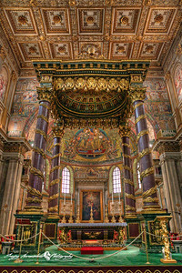 The Basilica di Santa Maria Maggiore (English: Basilica of Saint Mary Major or Our Lady of the Snows, Latin: Basilica Sanctae Mariae Maioris), Rome, Italy, March 15, 2013