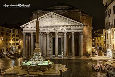 Pantheon at Night - Piazza della Rotonda, Rome, Italy March 11, 2013