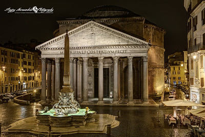 Pantheon at Night - Piazza della Rotonda, Rome, Italy March 11, 2013
