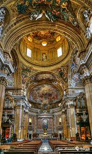 Chiesa del Gesu main interior, Rome Italy, March 11, 2013