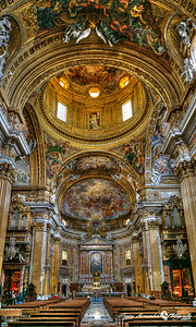 Chiesa del Gesu main interior, Rome Italy, March 11, 2013