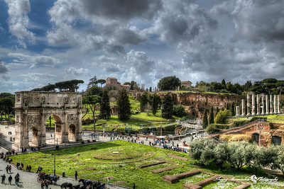 Arch of Constantine & Roman Forum, Rome, Italy, March 11, 2013