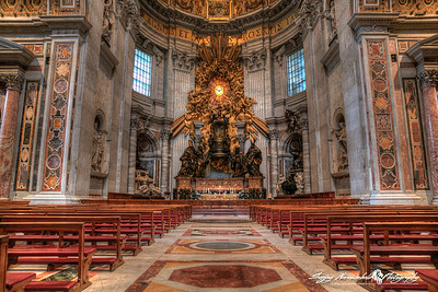 St Peters Basilica -The Tribune - Altar of the Chair, Vatican City, March 13, 2013