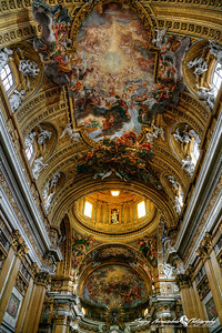 Chiesa del Gesu main interior ceiling, Rome Italy, March 11, 2013