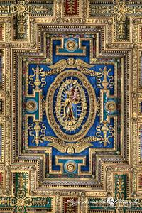Basilica di Santa Maria in Ara coeli (Basilica of St. Mary of the Altar of Heaven) - Ceiling, Rome, Italy, March 11, 2013