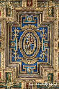 Basilica di Santa Maria in Ara coeli (Basilica of St. Mary of the Altar of Heaven) - Ceiling, Rome, Italy, March 11, 2013