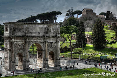 Arch of Constantine, Rome, Italy, March 11, 2013