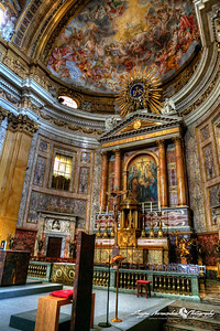 Chiesa del Gesu altar, Rome Italy, March 11, 2013