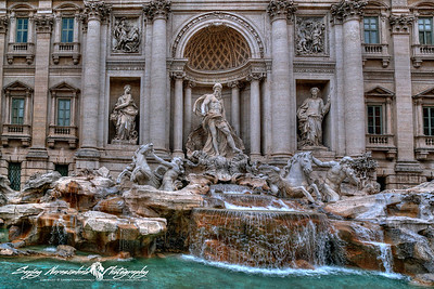 The Trevi Fountain is a fountain in the Trevi district in Rome, Italy. Standing 26.3 metres (86 ft) high and 49.15 metres (161.3 ft) wide,it is the largest Baroque fountain in the city and one of the most famous fountains in the world. March 14, 2013