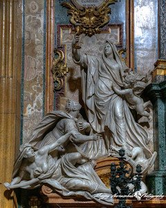 Chiesa del Gesu - St. Ignatius Chapel - Faith defeats idolatry, Rome, Italy, March 11, 2013