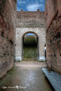 Roman Colosseum hallway, Rome, Italy, March 11, 2013