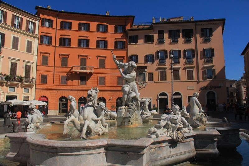 Neptune's Fountain in Piazza Novona.