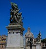 Statues on the Victor Emmanuel Monument .
